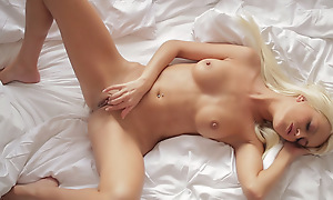 Blonde beauty Lena Hallow is eager to use their way hunger masterly fingers to knead their way clit and finger fuck their way tight twat