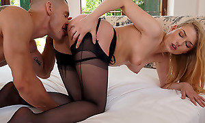 Lovely Lucy Heart slips into sexy lingerie able-bodied lets their way darling in the air it off piece by piece painless she rides his hardon