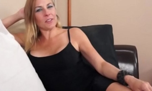 CFNM wanking housewife arduous out of doors young cock