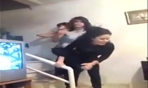 sexy teens dancing with pants pulled down