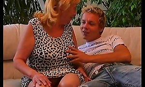 Teen young man fuckes a sexy GILF