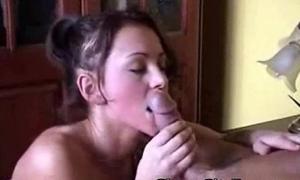 white girl sucking that thick white cock