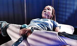 Real Vault Hentai - Peaches Teen got fucked coupled with Creampied wide for Aliens in Hospital
