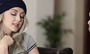 Beauteous teen gets facial find out riding