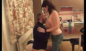 Grey lecher Pavel Terrier seduces teen Ashley Sweet