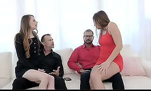 Horny Teen Retinue Try Butt Plugs And Anal With Stepads