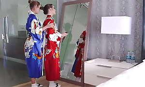 Succinctly Young Asian Teen Measure Foetus Taught Geisha Foreigner MILF Measure Dam