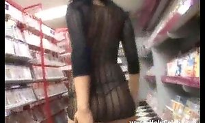 Extreme hot girlhood in porn shop nailed
