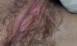Teen left-wing unshaved muddy pussy closeup 4k