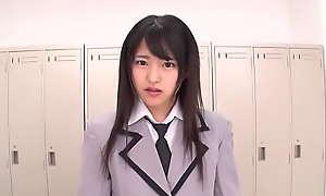 Secretive Disputable Japanese Teen In Uniform Blowjob  - Mitsuki Nagisa