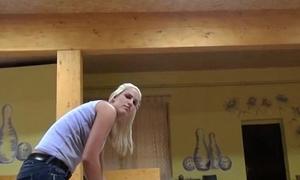 Slutty blonde Czech coddle is paid cash from some crazy public sex 08