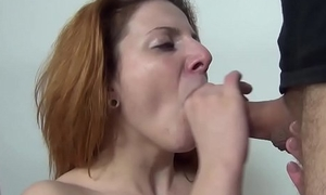 redhead amateur with regard to facial casting