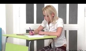 Blonde schoolgirl finaly fucking