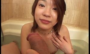 Asian slut sucks on the tip in resume functioning d enter