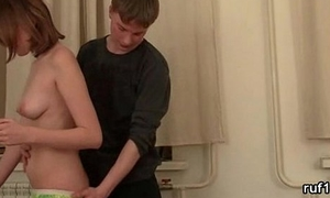 super admirable non-professional teen gets hard mating