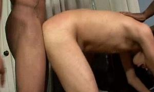 BlacksOnBoys - Nasty dispirited boys enjoyment from young white dispirited gay guys 06