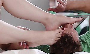 LoveHerFeet - Sole Sucking Together with Shafting All round Cute Teen