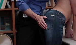 Petite Blonde Teen Shoplifter Zoey Clark Fucked By Her Best Friends Security Office-holder Dad