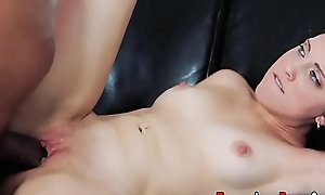 Teen fucked apart from black cock