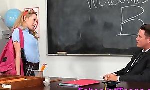 Horny College Teen Schoolgirl Sucks Lacking Helpless Medley Tutor