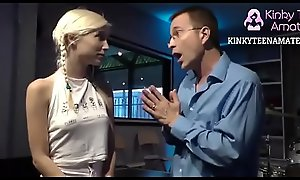 Petite Teen Blonde Takes Big Black Cock  - KinkyTeenAmateur lapdanceteens.com