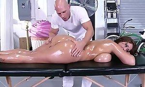 Brazzers - immodest masseur - (eva notty) - massive mounds on burnish apply receptionist