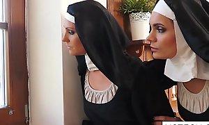Crazy dame nuns licking vaginas