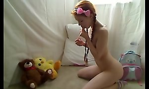 Hot teen redhead dolly little masturbating connected with f...