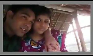 Several couples romanticist in hut