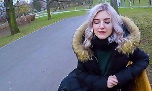 Cute teen swallows hot cum for finances - revolutionary broach oral-service hard by Eva Elfie