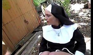 Peevish german nun can't suffer wanting in cock