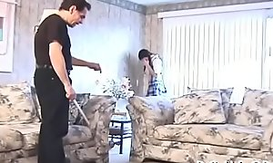 Breathtaking babe gets spanked after flawless interpretation