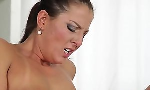 Busty mom seducing their way stepdaughter