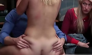 Teenager first time Rub-down the mother and compeer'_s daughter controlled to