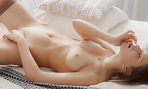 Unspecified masturbates in a superb erotic art vid