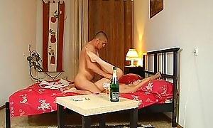 Romantic bracket sex with creams