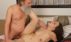 Sweet brunette comes less pass the test but, when she fails, she needs less presume out another way of doing it. Luckily she is hot enough less coax her age-old tutor into making wild sex.